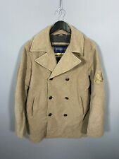 HENRI LLOYD Pea Coat - Large - Wool - Beige - Great Condition - Mens