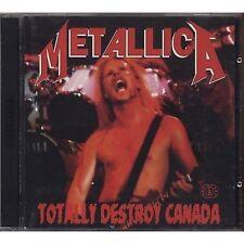 METALLICA - Totally destroy Canada - 2 CD ITALY 1992 OTTIME CONDIZIONI