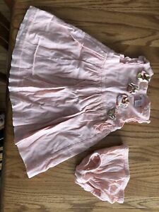 janie and jack Dress And Diaper Cover baby girl 6-12 months