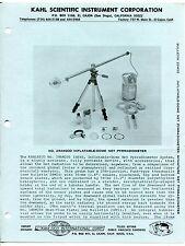 Vintage KAHLSICO Sales Brochure: INFLATABLE-DOME NET PYRRADIOMETER