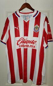 PUMA Chivas de Guadalajara Official 2020 2021 Home Soccer Jersey XXL