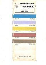 1958 BUICK SUPER CENTURY SPECIAL ROADMASTER 58 SPRING COLOR PAINT CHIPS 59SW 3