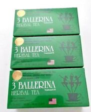 3 boxes of 3 BALLERINA HERBAL TEA, extra strength dietary supplement,/18 bags