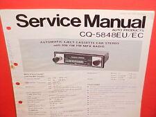 PANASONIC CASSETTE TAPE/AM/FM/MPX RADIO FACTORY SERVICE MANUAL CQ-5848EU 5848EC
