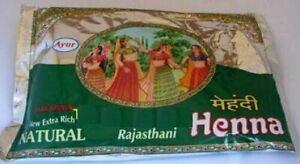 Ayur Rajasthani Natural Herbal Henna Mehndhi Powder 200g -2Pack
