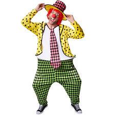 Herrenkostüm Clown Clownkostüm Harlekin Fasnacht Karneval Herren Kostüm mit Hut