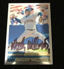 WODDY WILLIAMS 2000 TOPPS CHROME AUTOGRAPHED SIGNED AUTO BASEBALL CARD 82 PADRES