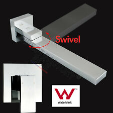 WaterMark Bath Swivel Waterfall Spout Faucet Square Mixer Hot Cold Cubic Tap SET