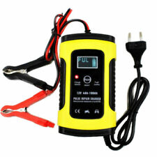 Car Battery Lead Acid Pulse Repair Charger Auto Motorcycle 12V 5A LCD US Plug