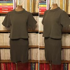 CREATURES OF COMFORT grey matching top skirt chenille dress S M UK 10 US 6