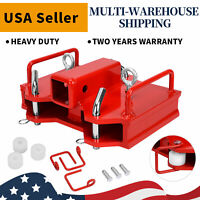 "2"" Forklift Towing Attachment Trailer Loader Hitch Receiver for Dual Pallet Fork"