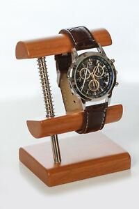 2 Stück Uhrenständer, Uhrenträger, Uhr, Uhrenaufsteller aus edlem Kirschbaumholz