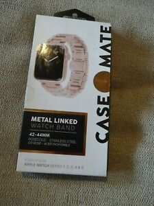 Case-Mate 42-44mm Apple Series 1 2 3 4 & 5 Watch Band-Rose Gold Metal Link