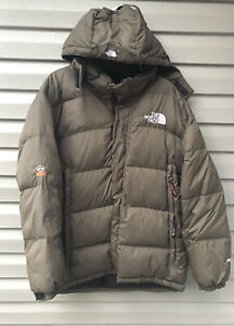 North Face Summit Series Gore-Tex XCR Brown Hooded Jacket Coat Men's 2XL Puffer