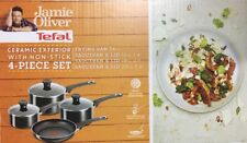 Tefal Jamie Oliver 4 Piece Ceramic Non-stick  Saucepan Frying Pan Set New Boxed