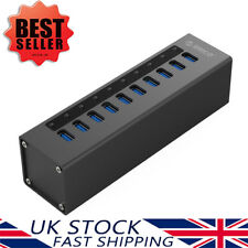 ORICO Aluminium Powered USB 3.0 Hub 10 Port HighSpeed Data 5Gbps & 1.5A Charge