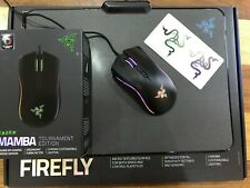 Razer Mamba Tournament Edition Wired Mouse with Razer Firefly Mouse Pad Bundle