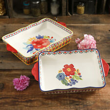 Rectangular Bakers The Pioneer Woman Fiona Floral for Kitchen Dinnerware 2-Piece