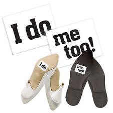 "Schuhsticker ""I do - me too!"" 2 Stk. Schuh Sticker Aufkleber Brautschuhe"