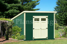 Shed Plans, 10' x 10' Deluxe Modern Roof Style #D1010M, Free Material List