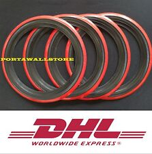 15'' Black&Red wall Portawall tire insert Trim set FORD CHEVY VW BEETLE PRE.