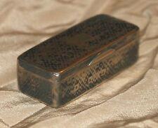 RUSSIAN ANTIQUE SOLID SILVER NIELLO SNUFF BOX, 1869