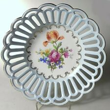 Porcelaine de Saxe Durchbruchporzellan Blumenmotiv Schale Obstschale ca. 25x6 cm