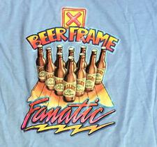 Vintage 80s Beer Frame Fanatic 1980s Blue Funny Humor t-shirt Size Large