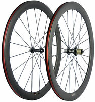 700C 50mm Clincher Carbon Fiber Wheels Road Bicycle Carbon Front&Rear Wheelset