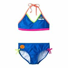 Cat & Jack Girls Blue Rainbow Sun Bikini Top & Bottom 2 Piece Xl 14/16 Nwt