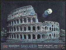 BANGLADESH 25 TAKA 1990 ITALY WORLD CUP FOOTBALL IMPERF MSH SOCCER STAMP SHEET