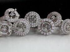 1ct PLATINUM/DIAMOND HALO RING + RING ONLY + RESET YOUR DIAMOND INTO PLATINUM