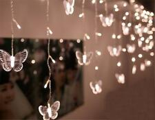 SHHE Fairy Lights 1.5m X 0.5m 48 LED Butterfly Curtain Lights String 230v 8 #7p1