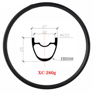 "280g 29er mtb carbon rim 29er mtb wheel 28/32/34mm 29"" XC Hookless ult light rim"