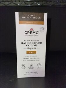 CREMO Hair & Beard Color Dye - No. 07 Light Medium Brown | Simple to Use Foam