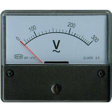 ANALOG EINBAUMESSWERK 300 VAC 72x62x36mm Klasse 2,5 Neuware