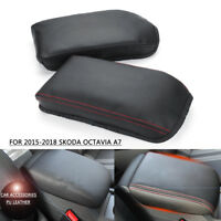 PU Center Armrest Box  protection Surface Cover For SKODA Octavia A7  15-18 *