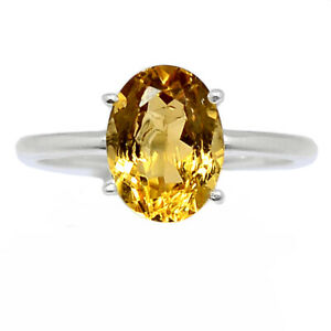Citrine - Brazil 925 Sterling Silver Ring Jewelry s.6.5 BR98383