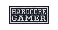 Hardcore Gamer Patch Biker Rocker Aufnäher PC XBOX Playstation Kutte Vest Online