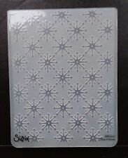 Sizzix Large Embossing Folder CHRISTMAS SNOWFLAKES #14 fit Cuttlebug 4.5x5.75in