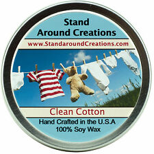 Premium 100% All Natural Soy Wax Candle - 4 oz Tin - Clean Cotton