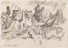 "Viliam Chmel (1917-1961) ""Village Motif"", Drawing, 1955"