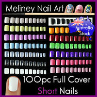 100pc Short Full Cover Nail Tips Manicure False Art Acrylic Gel nails Artificial