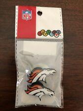 Jibbitz RARE NFL Denver Broncos Official Merchandise Crocs Shoe Charms Pack of 2