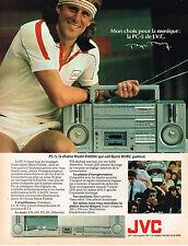 PUBLICITE ADVERTISING 104  1981    JVC  chainr hi-fi  BJORN BORG