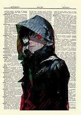 Kaneki Tokyo Ghoul Anime Dictionary Art Print Poster Picture Japanese Book Manga