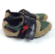 Specialized cycling Shoes Men's 8.5 Suede Leather Strap Biking Green Tan Eur 41