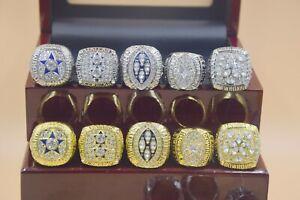 10pcs 1971 1977 1992 1993 1995 Dallas Cowboys Championship Ring /-