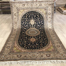 YILONG 5'x8' Hand Woven Home Decor Silk Rug Medallion Hand Knotted Carpet 479C