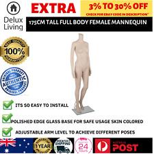 Full Body Female Mannequin Cloth Display Tailor Dressmaker Skin Tone 175cm